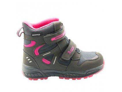 Bugga dívčí zimní obuv Bugga B00151-09 s membránou