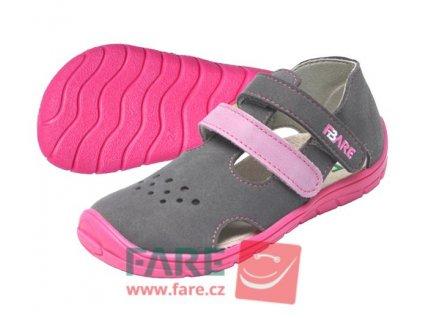 FARE BARE dívčí textilní sandálky 5164252