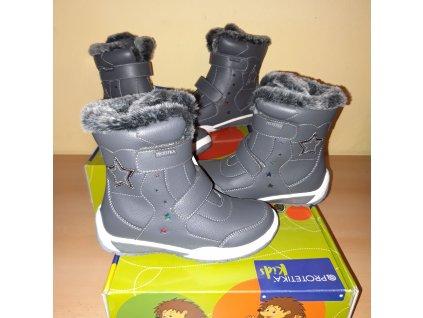 Protetika dívčí zimní obuv Evelin Grey