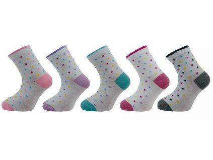 Novia ponožky dívčí puntík 1545