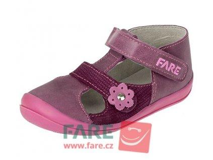 FARE dívčí kožené sandálky 868192