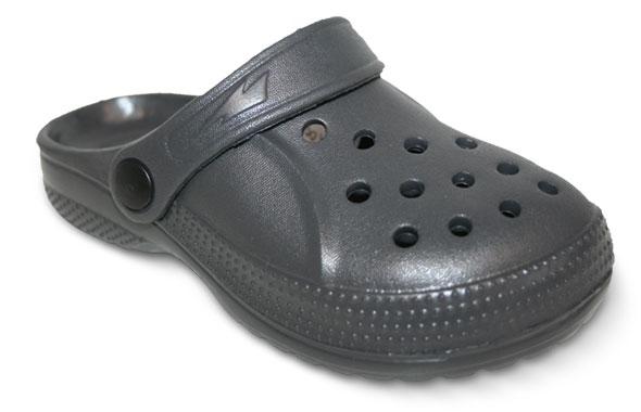 """Befado dětské pantofle EVA - """"kroksy"""" tmavá šedá Velikost: 26"""