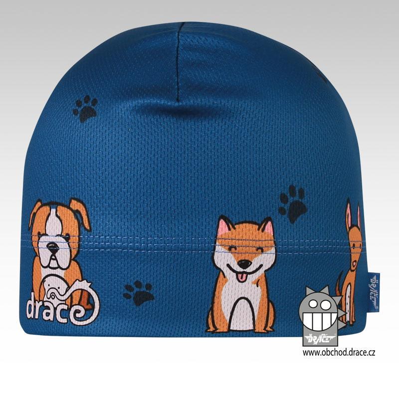Čepice Dráče Bruno vzor 051 Barva: Modrá, Velikost čepice: 52-54