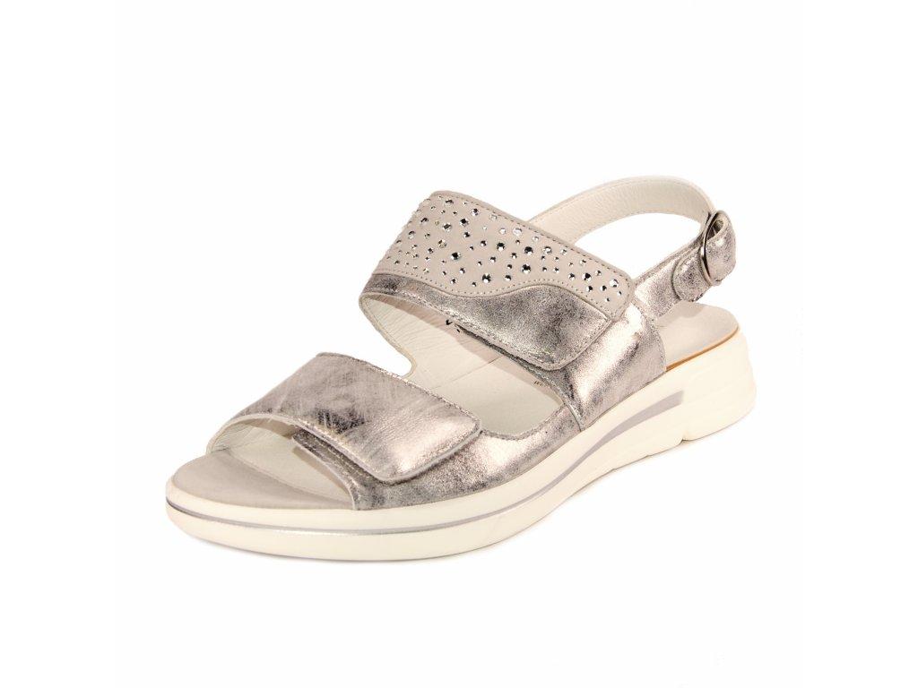 Dámské sandále Waldläufer artikl 922002 210 347 stříbrné