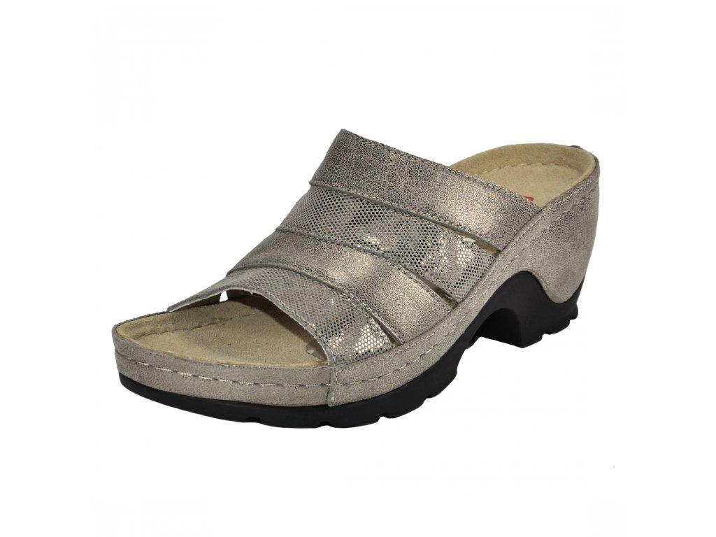 Dámské pantofle Berkemann artikl 01653 428 bronzové
