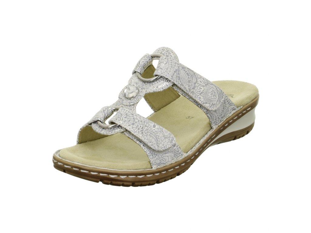 Dámské pantofle ara artikl 27270 80 stříbrné