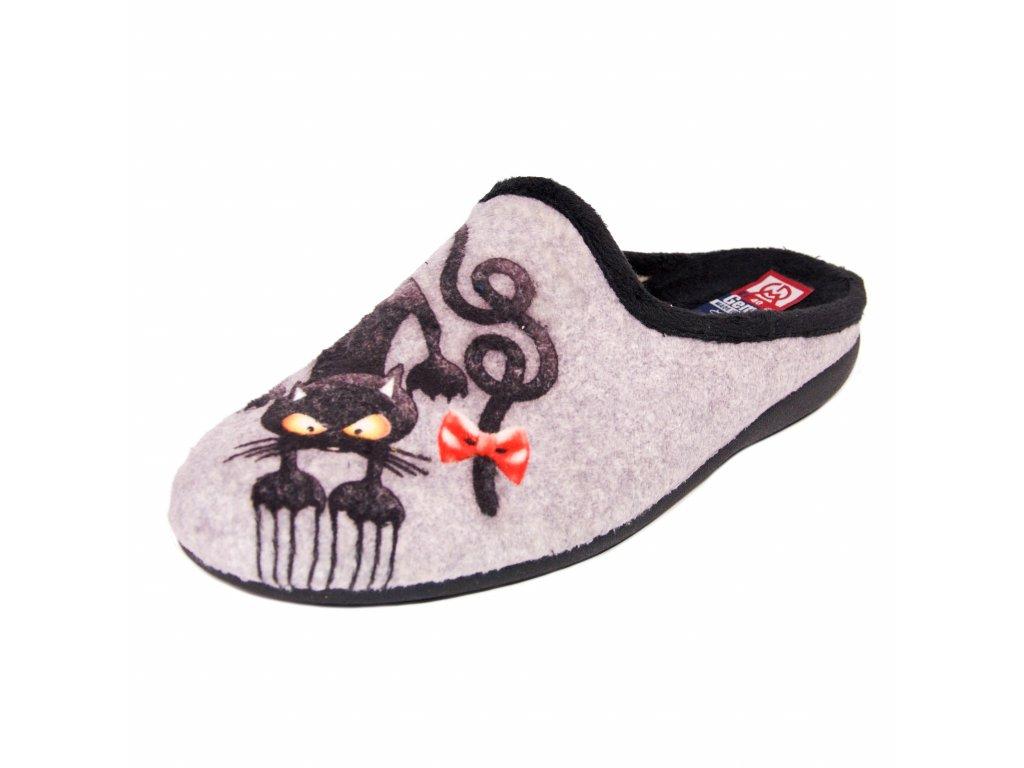 Dámské pantofle Gema Garcia artikl 05009-021 kočky