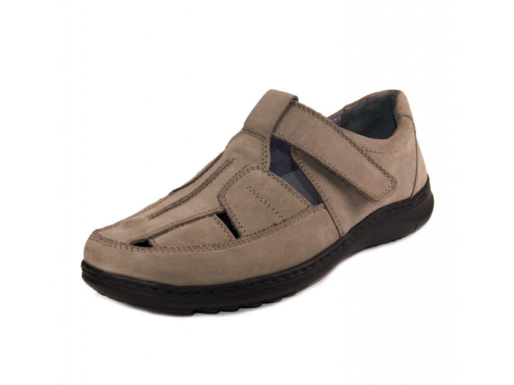 Pánské sandále Waldläufer artikl 478303 191 088 šedobéžové