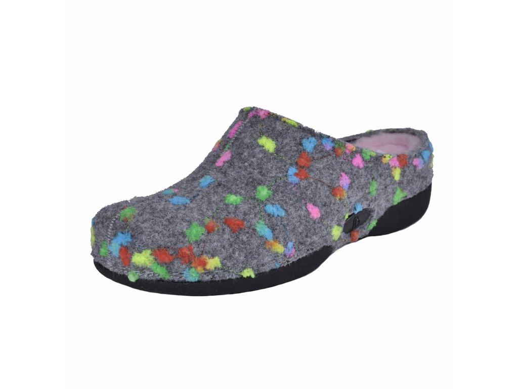 Dámské pantofle Berkemann artikl 01558 605 šedé