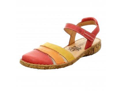 Dámské sandále Josef Seibel artikl 79544 727402 čeveno-žluté