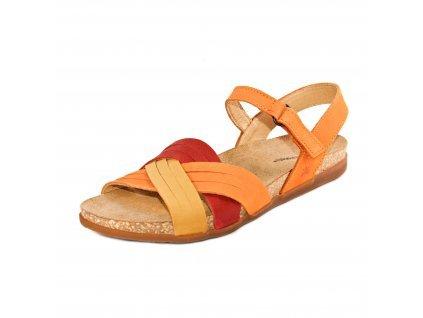 Dámské sandále EL NATURA LISTA artikl 5242 Orange mix