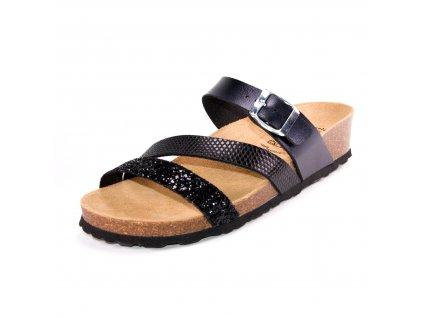 Dámské pantofle LICO artikl 560156 černé
