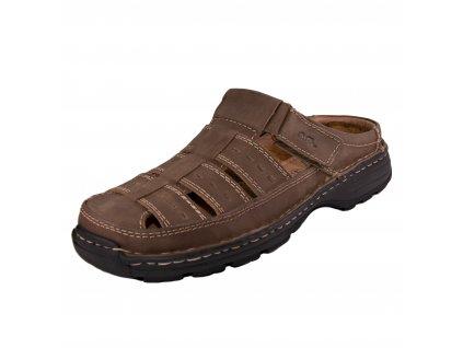 Pánské pantofle ara artikl 11034 44 hnědé
