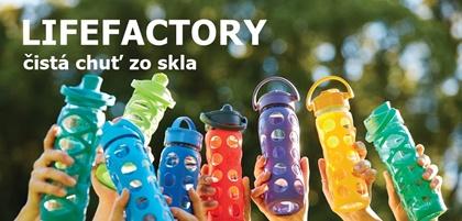 Eko sklenené fľaše Lifefactory