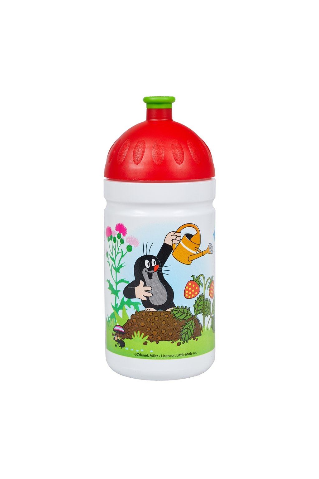 Zdrava flasa detska 500 ml krtko cervena