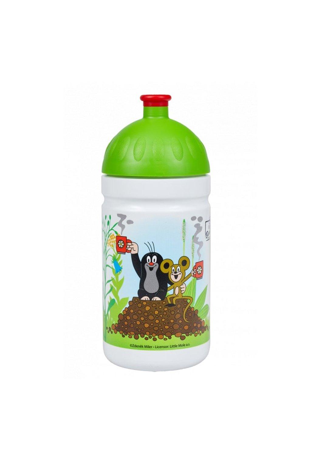 Zdrava flasa detska 500 ml krtko zelena