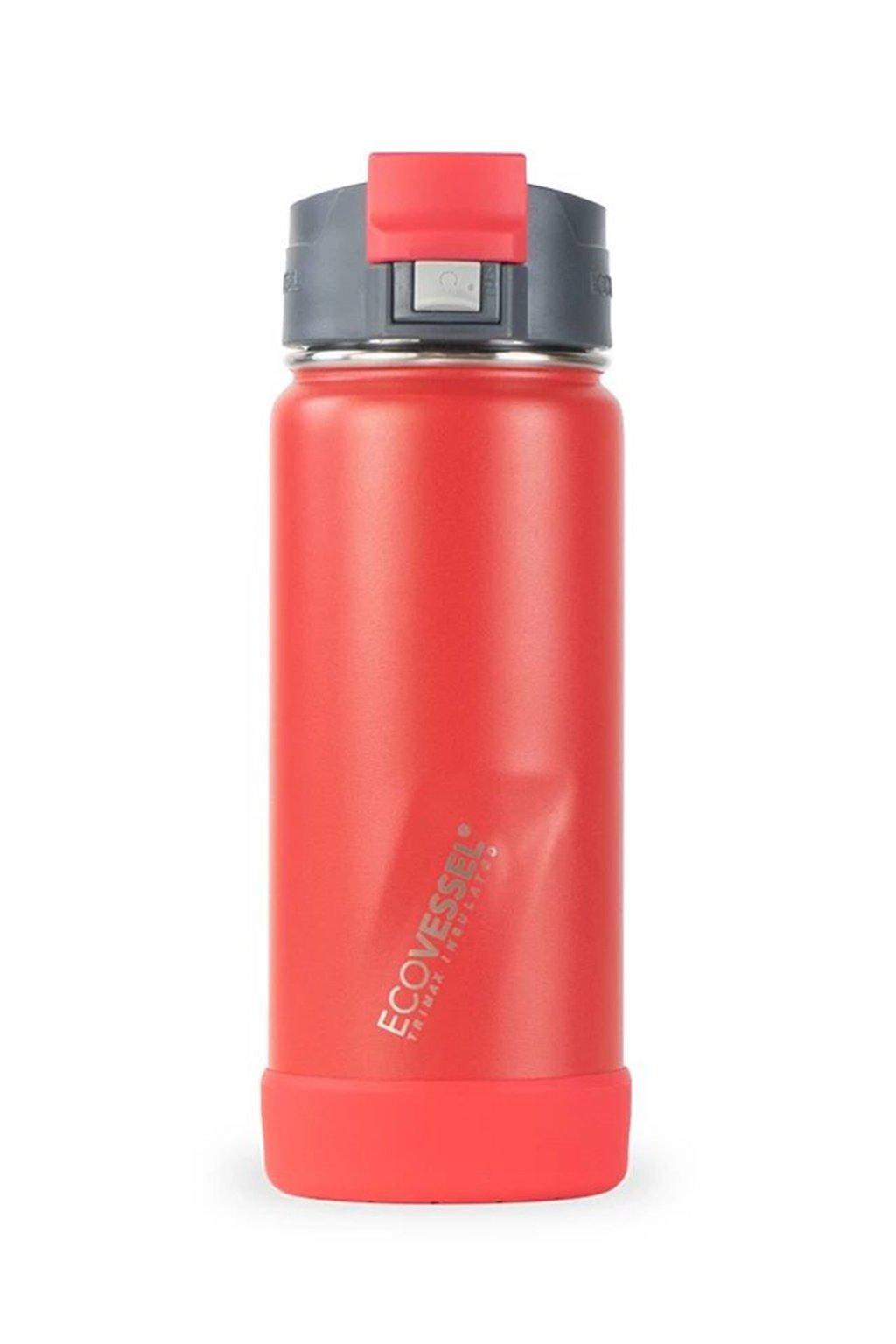 Cestovny termo hrncek EcoVessel cerveny