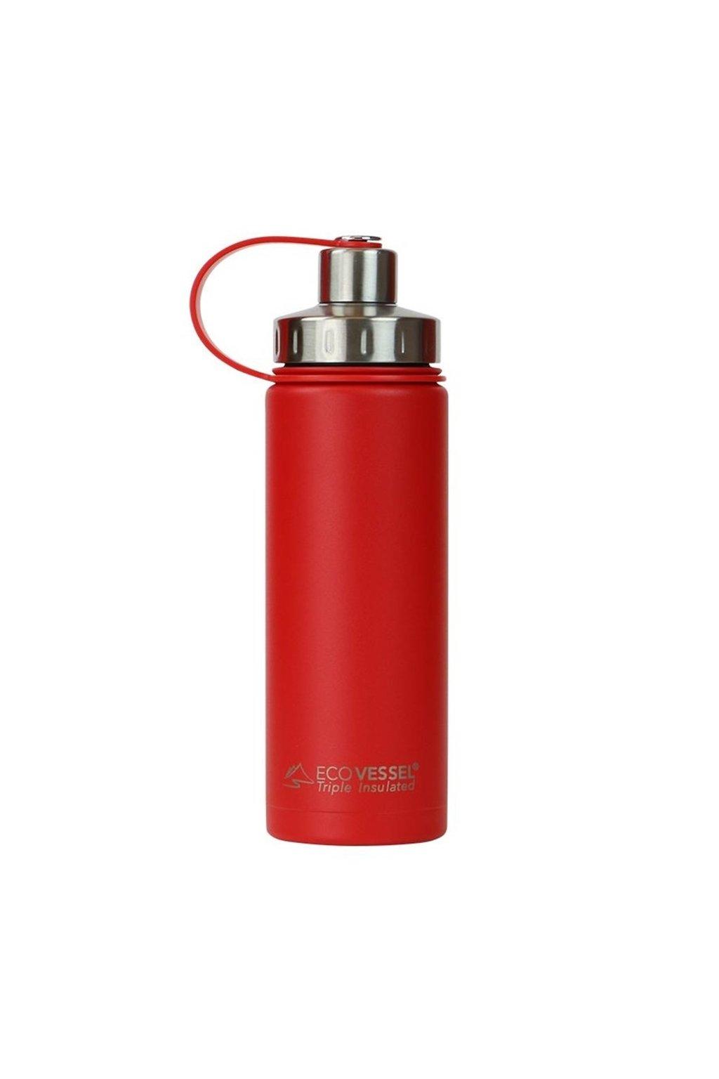 Termoska na pitie Eco Vessel 600 ml vakuuova cervena