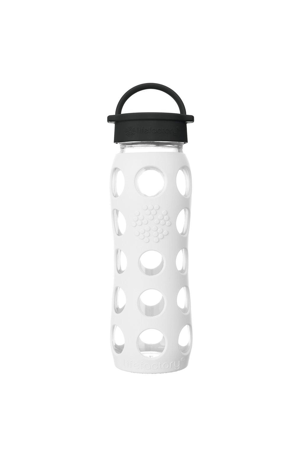 Sklenená fľaša na smoothie Lifefactory 650 ml Optic white