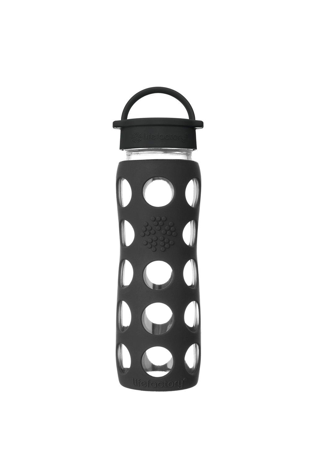 Sklenená fľaša s uzáverom Lifefactory 650 ml Onyx