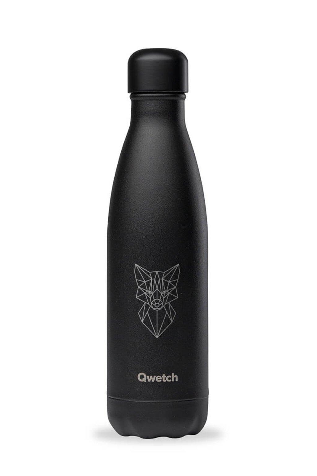 Cierna flaska nerezova termo Qwetch 0,5l Fox