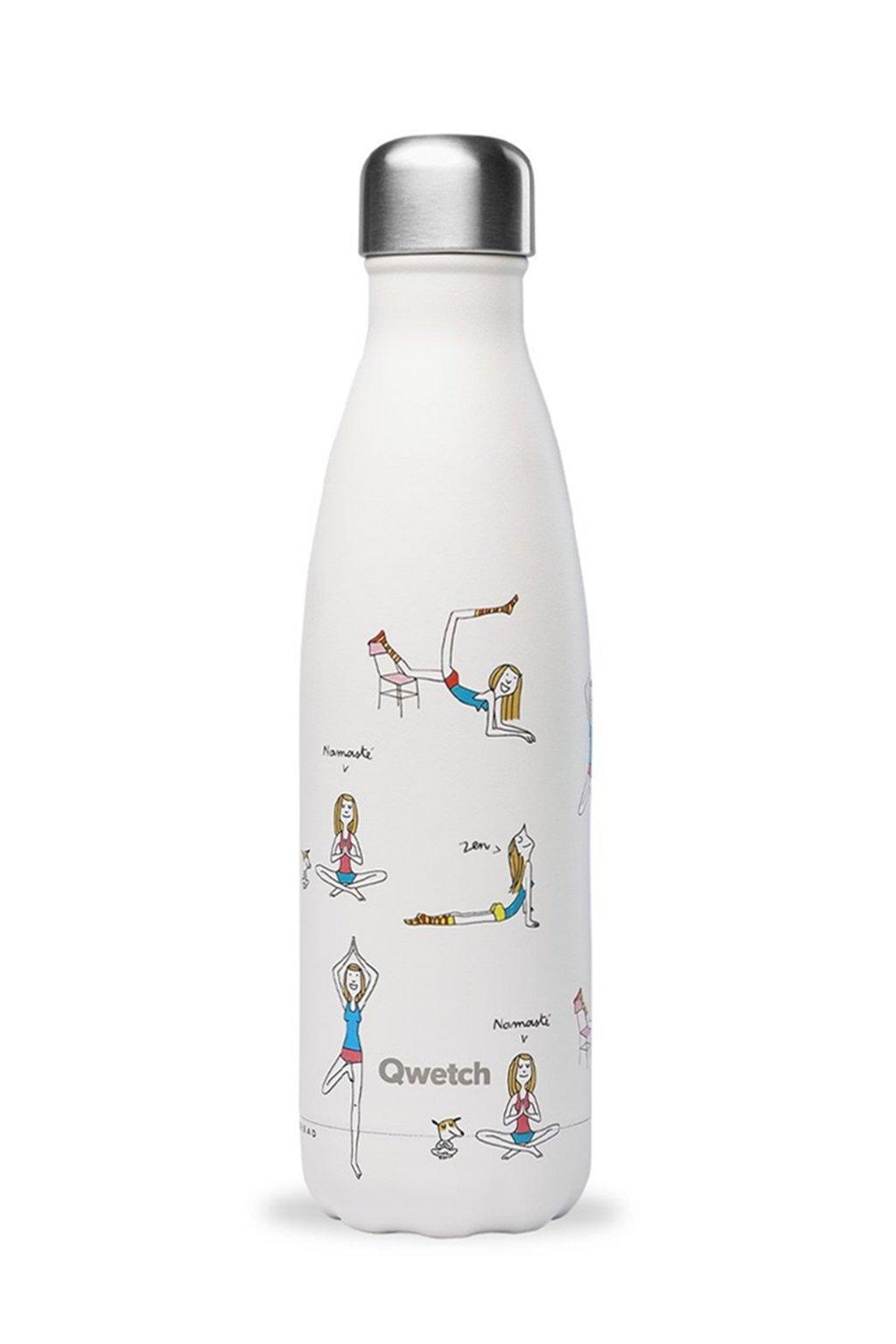 Termo flasa na jogu Qwetch 500 ml biela