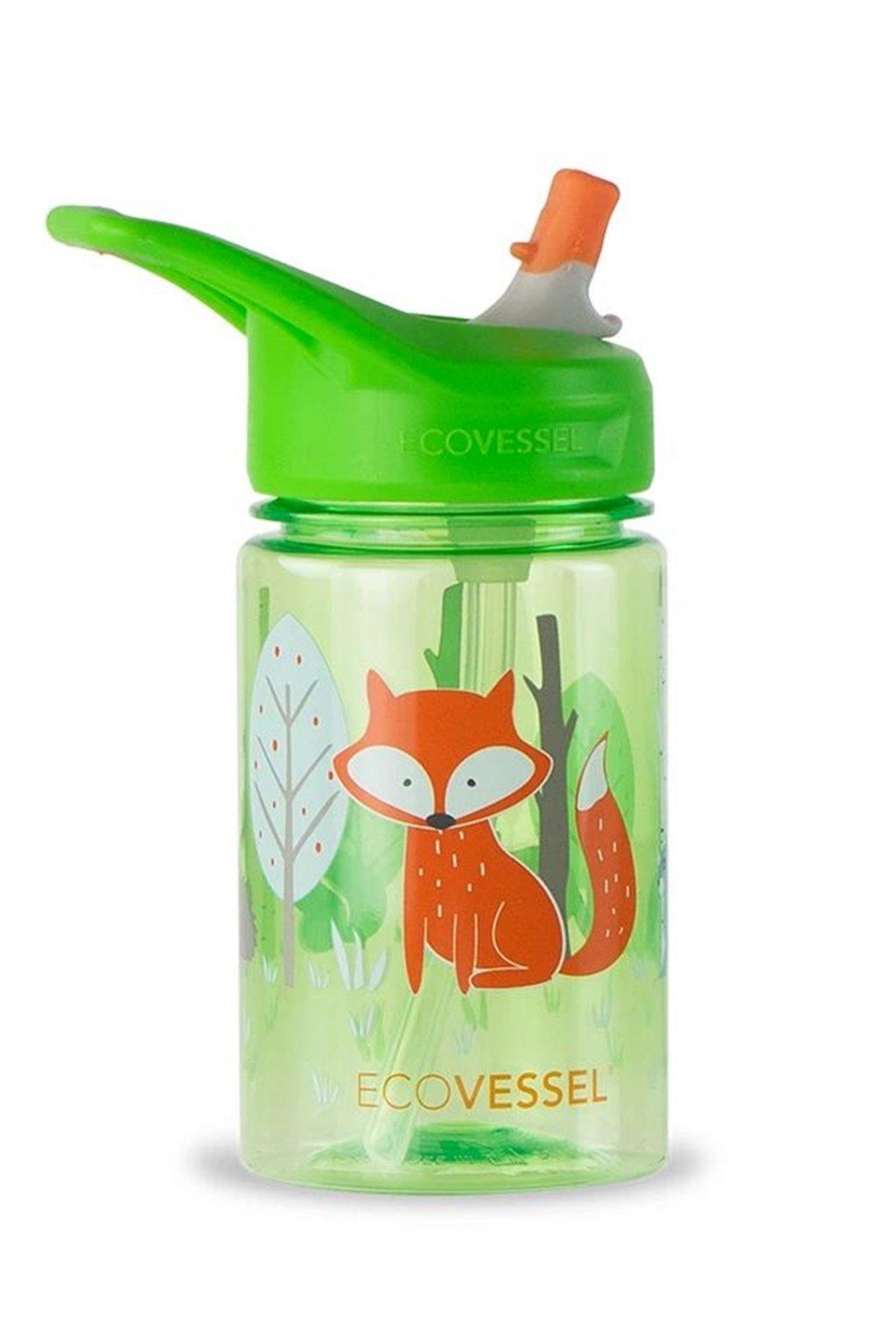 Detske flase na vodu Eco Vessel s liskou 355 ml