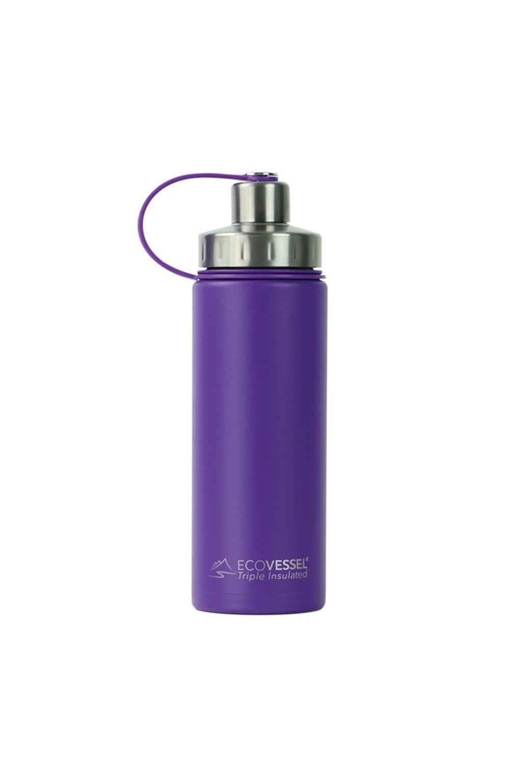 Termofľaša Eco Vessel 600 ml so závitom fialová