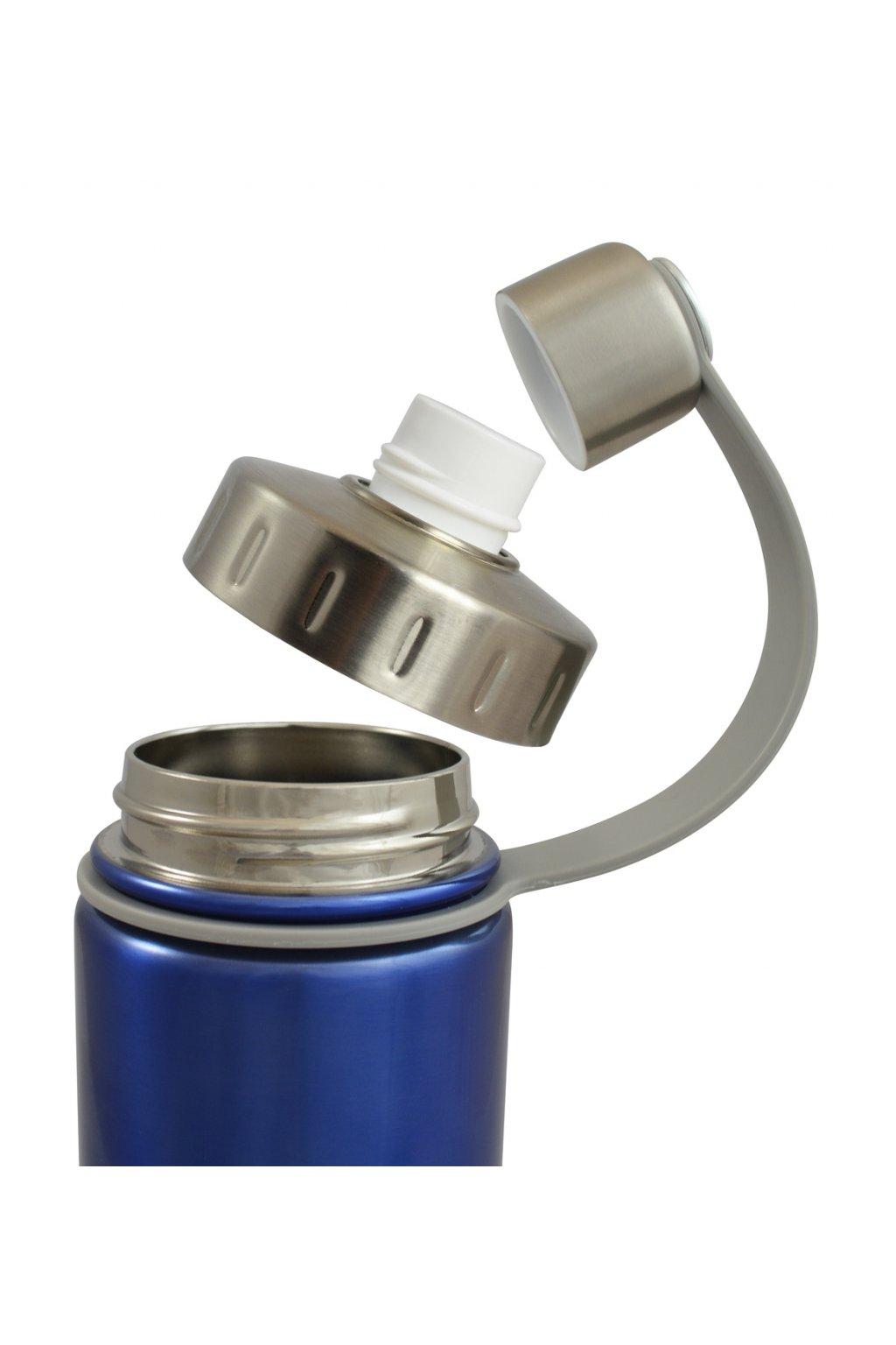 Termofľaša Eco Vessel 600 ml so závitom strieborná. 1 z 3. Eco Vessel  termofľaša s otvorenými závitmi ... d6660dd3bc5