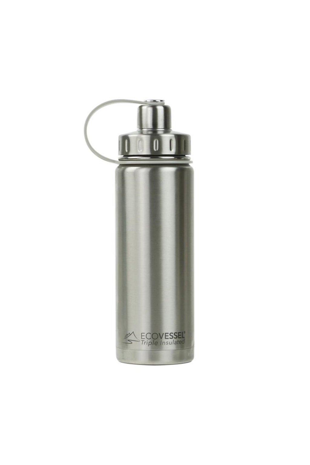 Termofľaša na pitie Eco Vessel 600 ml strieborná
