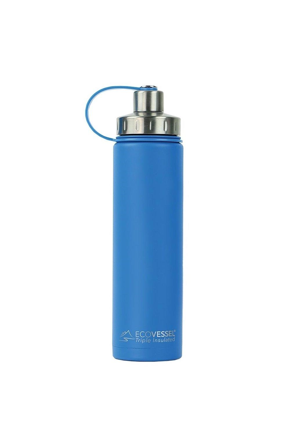 Stylova termo flasa pre muza Eco Vessel 700 ml modra