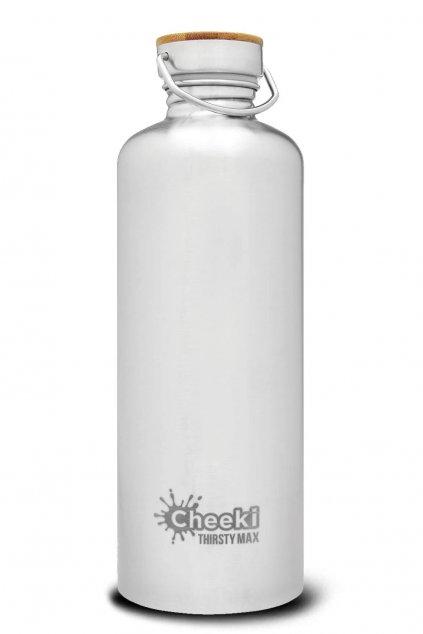 Velka flasa na vodu 1,6 l Cheeki Silver (1)