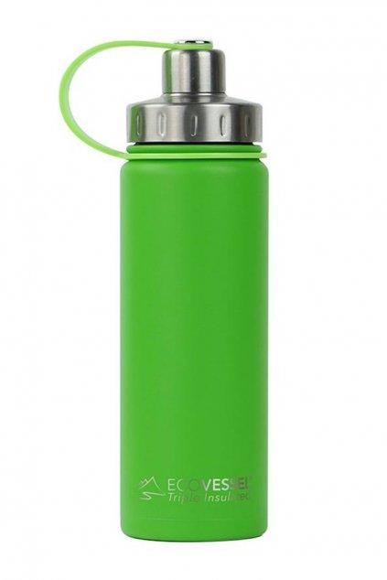 Termoska nerezová Eco Vessel 600 ml so závitom limetková (2) – kópia