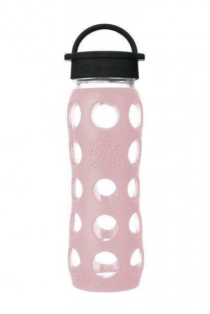 Sklenená fľaša na pitie Lifefactory 650 ml desert rose