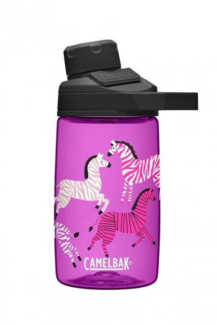 Flase pre deti na pitie CamelBak ruzove zebry