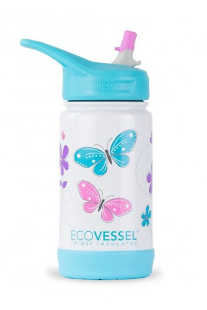 Termoflasa pre deti Eco Vessel Frost 355 ml s motylikmi 1