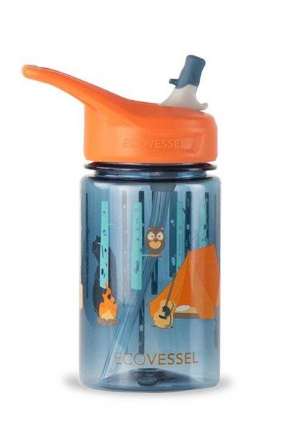 Detska flaska so slamkou na vodu Eco Vessel camping 0,4L