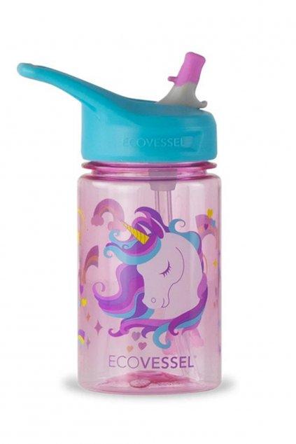 Flasa pre deti Eco Vessel jednorozec Unicorn 0,35 L