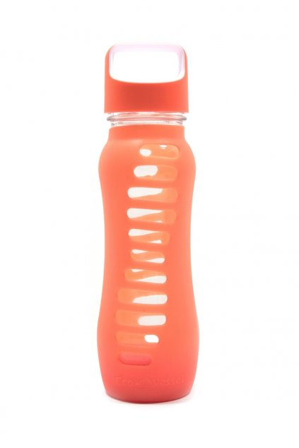 Sklenene flase Eco Vessel 650 ml oranzove