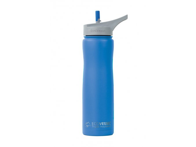Eco Vessel termofľaša so sosákom 670 ml modrá matná