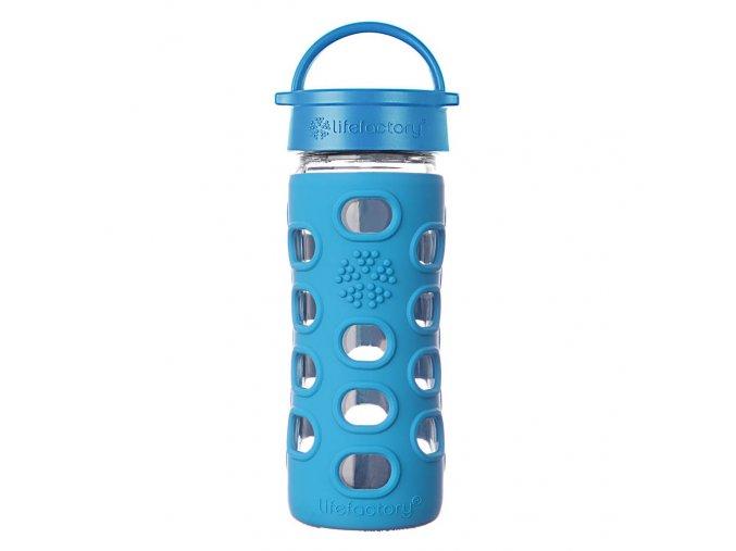 Lifefactory sklenená fľaša 350 ml modrá ocean