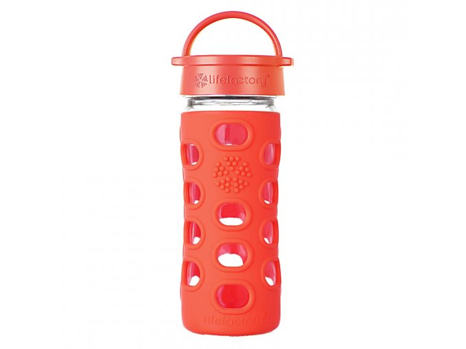 Lifefactory sklenená fľaša 350 ml poppy