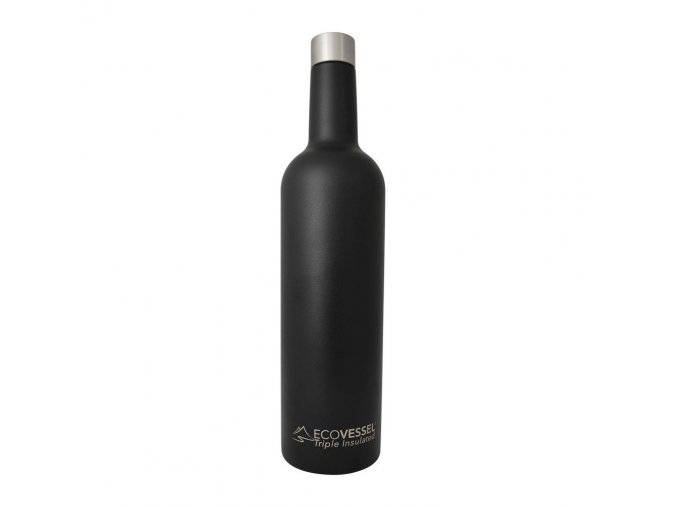 eco vessel vine trimax triple insulated stainless steel wine bottle 750ml