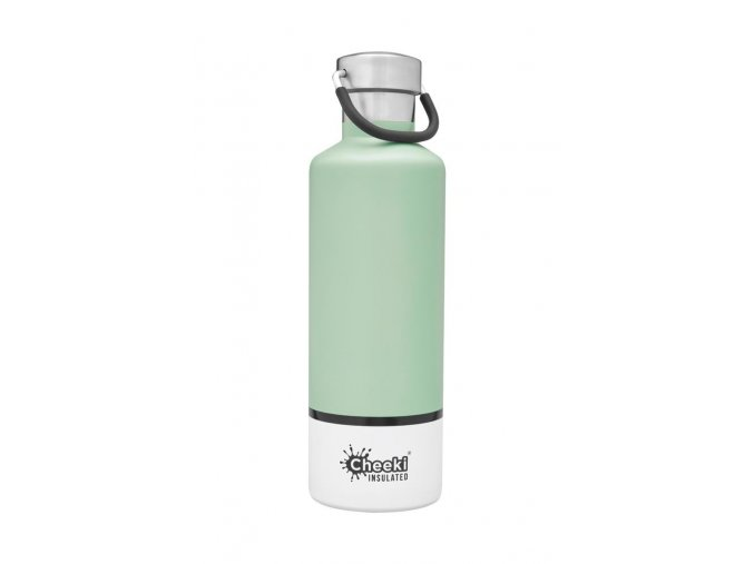 600ml Insulated Classic Pistachio White Front 1024x1024