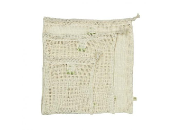1organic cotton mesh produce bag variety pack set of 3
