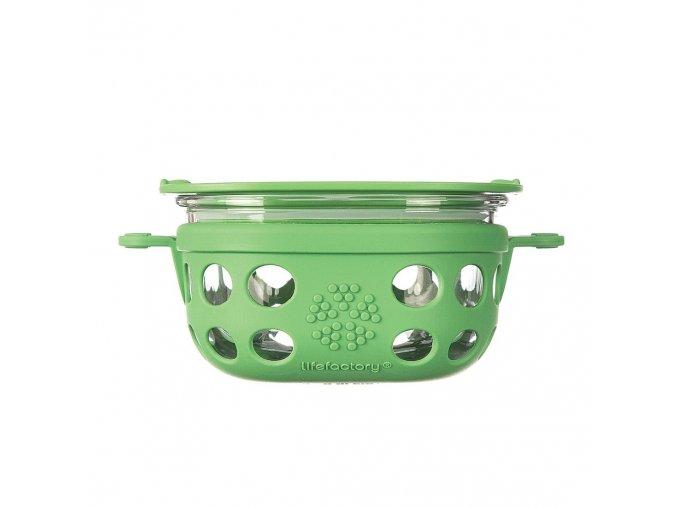 Sklenená dóza na jedlo Lifefactory 240ml zelená