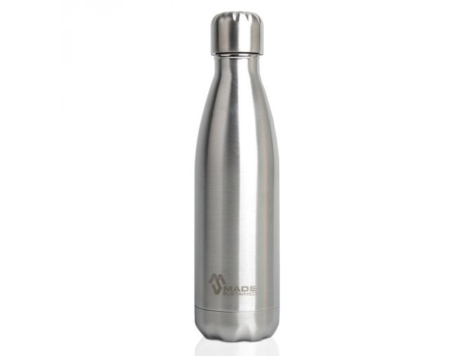 Made Sustained 750ml insulated Knight bottle brushed SS