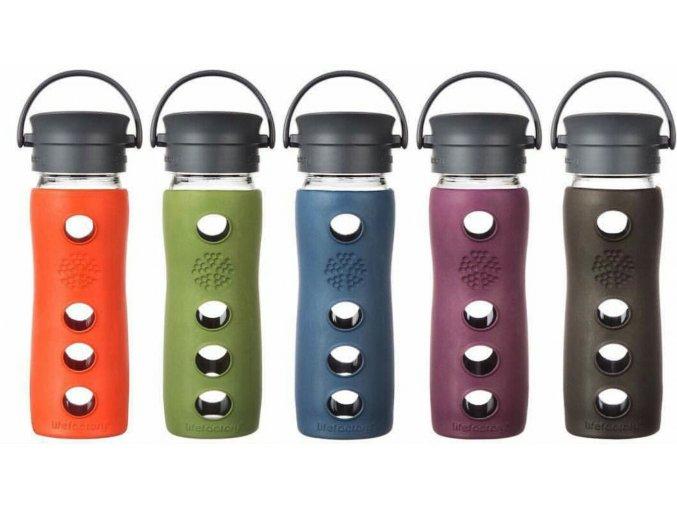 Sklenené fľaše termohrnčeky na kávu Lifefactory 470 ml