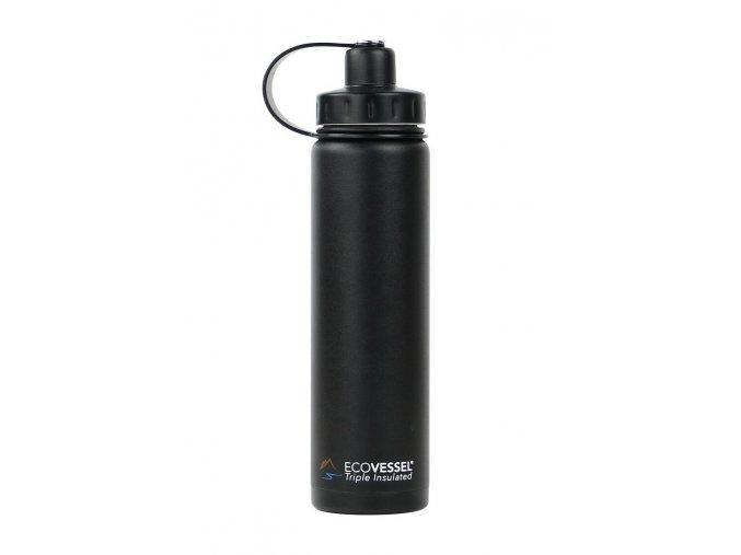 Termofľaša Eco Vessel 700 ml so závitom čierna