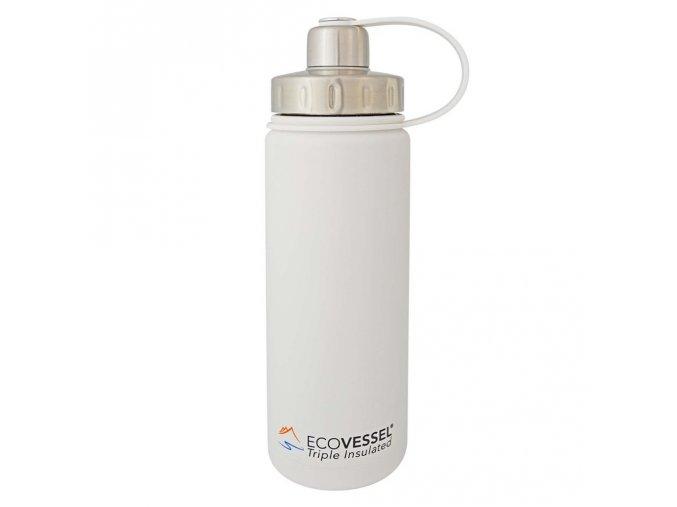Termofľaša Eco Vessel 600 ml so závitom biela